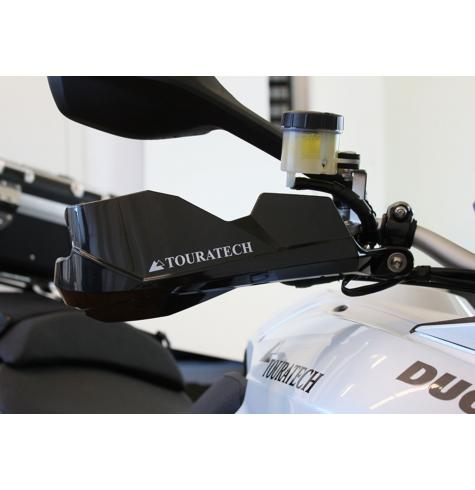 Touratech handguards for the Ducati Multistrada 1200 are some of the best protection money can buy for your motorcycle's handlebars and controls.